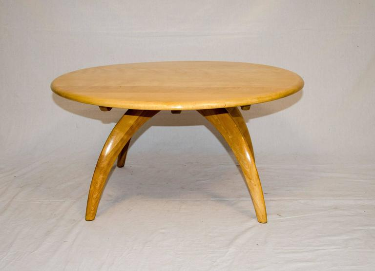 Merveilleux Mid Century Modern Round Lazy Susan Cocktail Or Coffee Table By Heywood  Wakefield For Sale