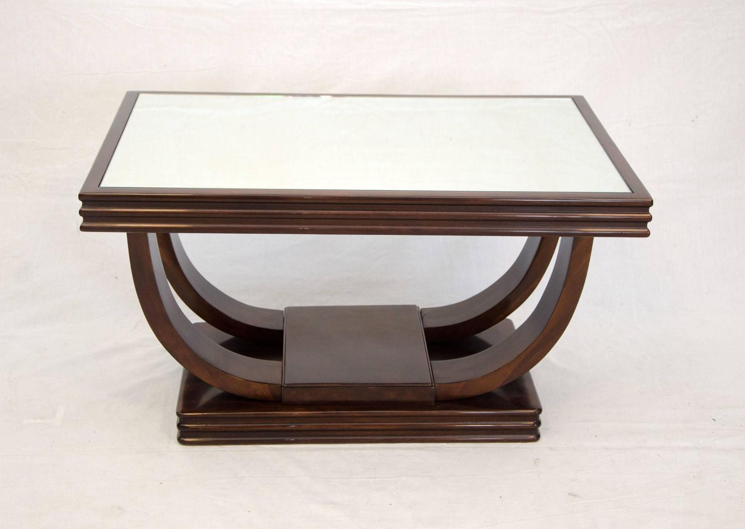 Art deco cocktail or coffee table mirror top for sale at for Hoop coffee table