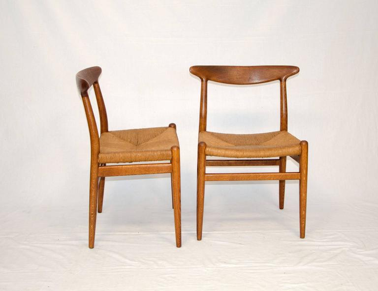 hans wegner dining chair. set of eight hans wegner dining chairs, model w2 by c. m. madsens 3 chair t