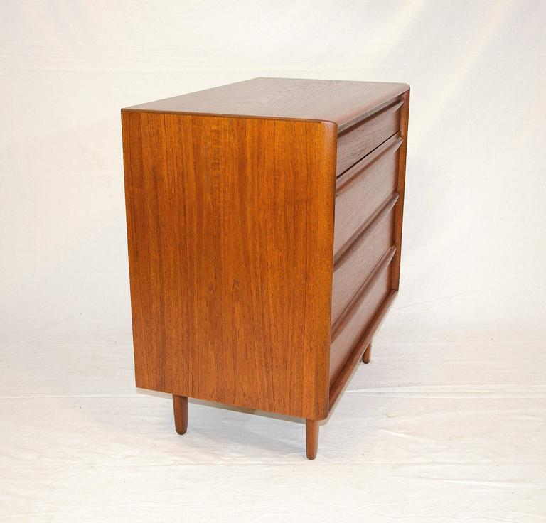 Small Danish Teak Dresser or Chest by Svend Madsen for Falster Møbelfabrik In Excellent Condition For Sale In San Francisco, CA