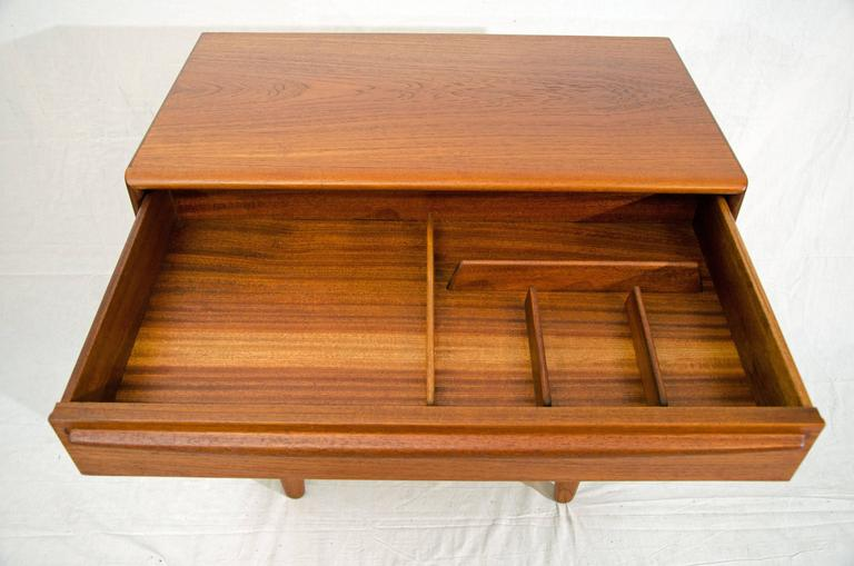 20th Century Small Danish Teak Dresser or Chest by Svend Madsen for Falster Møbelfabrik For Sale