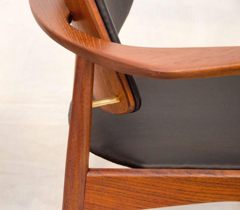 Set of Four Danish Teak Dining Chairs, Arne Hovmand-Olsen For Sale 2