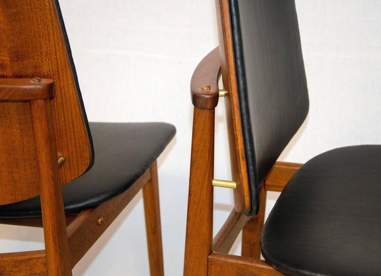 Set of Four Danish Teak Dining Chairs, Arne Hovmand-Olsen For Sale 3