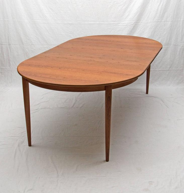 Round Danish Teak Dining Table Two