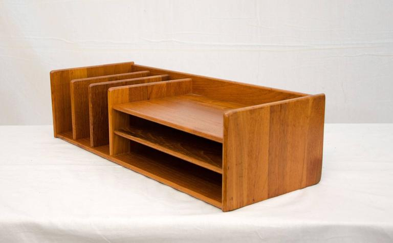 Danish Teak Desk Organizer Nordisk Andels Eksport At 1stdibs