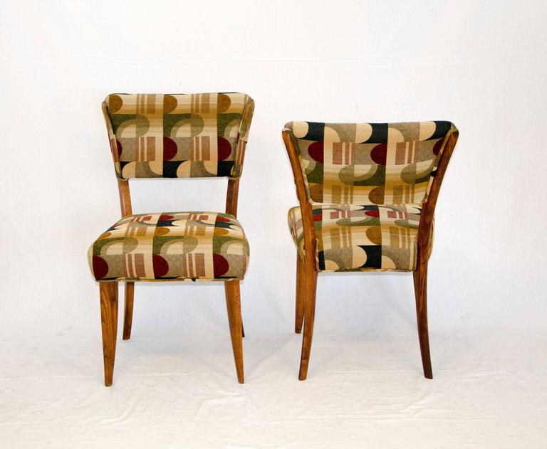 Mid-Century Modern Mid-Century Set of Eight Dining Chairs by Paul Laszlo for Brown Saltman For Sale