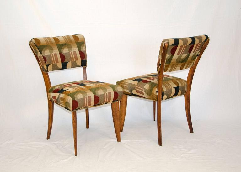 20th Century Mid-Century Set of Eight Dining Chairs by Paul Laszlo for Brown Saltman For Sale