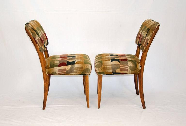 Mid-Century Set of Eight Dining Chairs by Paul Laszlo for Brown Saltman In Excellent Condition For Sale In Crockett, CA