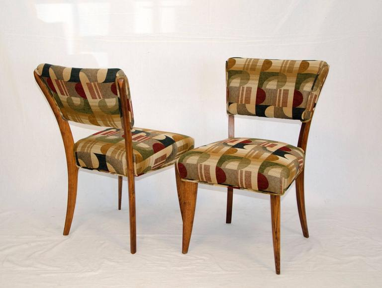 Upholstery Mid-Century Set of Eight Dining Chairs by Paul Laszlo for Brown Saltman For Sale