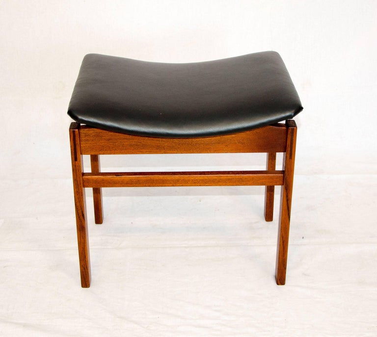 Danish Teak Small Bench or Footstool, Attributed to Finn Juhl For ...
