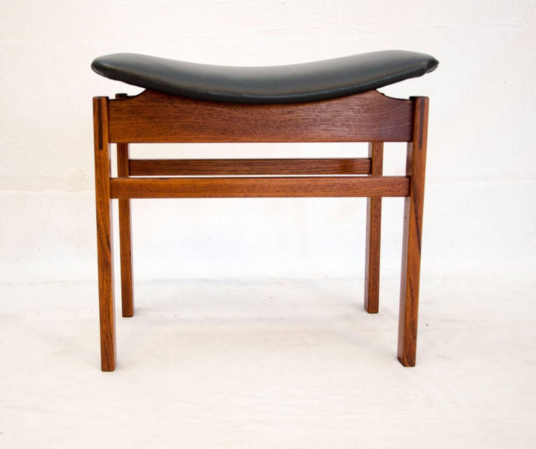 Danish Teak Small Bench Or Footstool Attributed To Finn