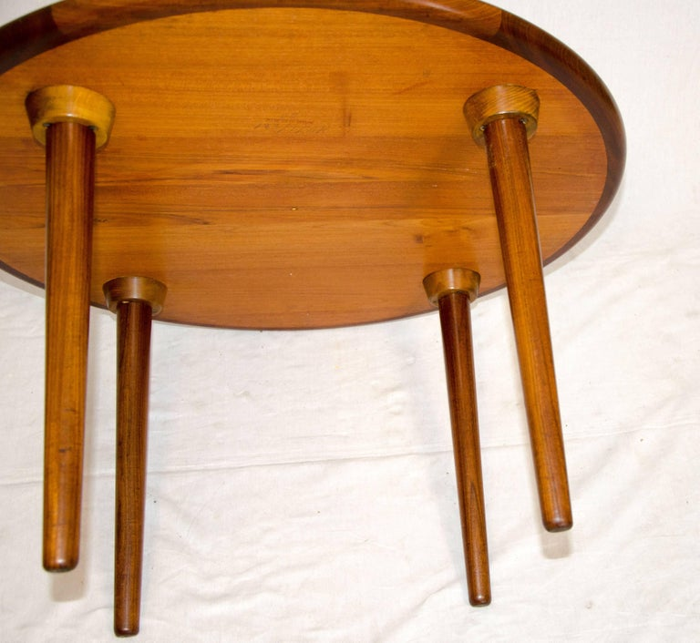 Low Round Teak Coffee Table: Small Round Danish Teak Coffee Or End Table At 1stdibs
