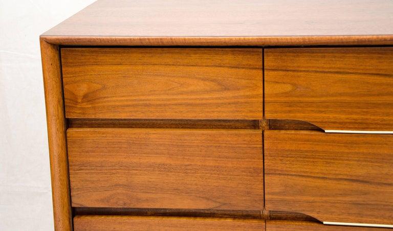 Walnut Midcentury Nine Drawer Low Dresser Kent Coffey At