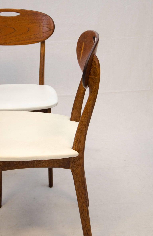 Scandinavian Modern Set of Four Danish Teak Dining Chairs by Svend Åge Madsen for K. Knudsen & Søn For Sale