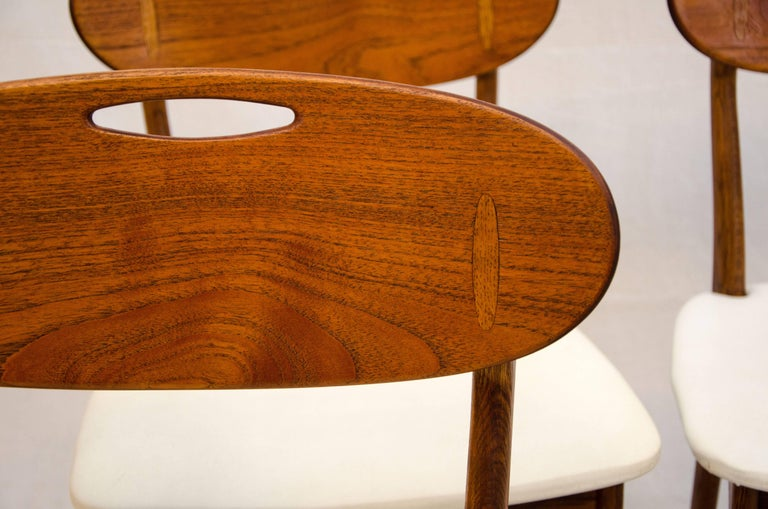 Set of Four Danish Teak Dining Chairs by Svend Åge Madsen for K. Knudsen & Søn In Excellent Condition For Sale In Crockett, CA