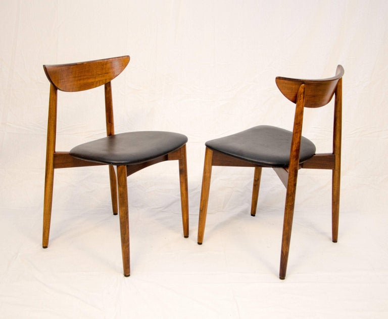 20th Century Set of Six Danish Walnut Dining Chairs, Harry Ostergaard, Moreddi For Sale