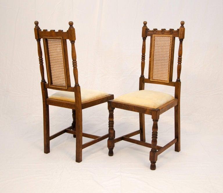 Victorian Set of Four Antique Oak English Dining Chairs For Sale - Set Of Four Antique Oak English Dining Chairs For Sale At 1stdibs