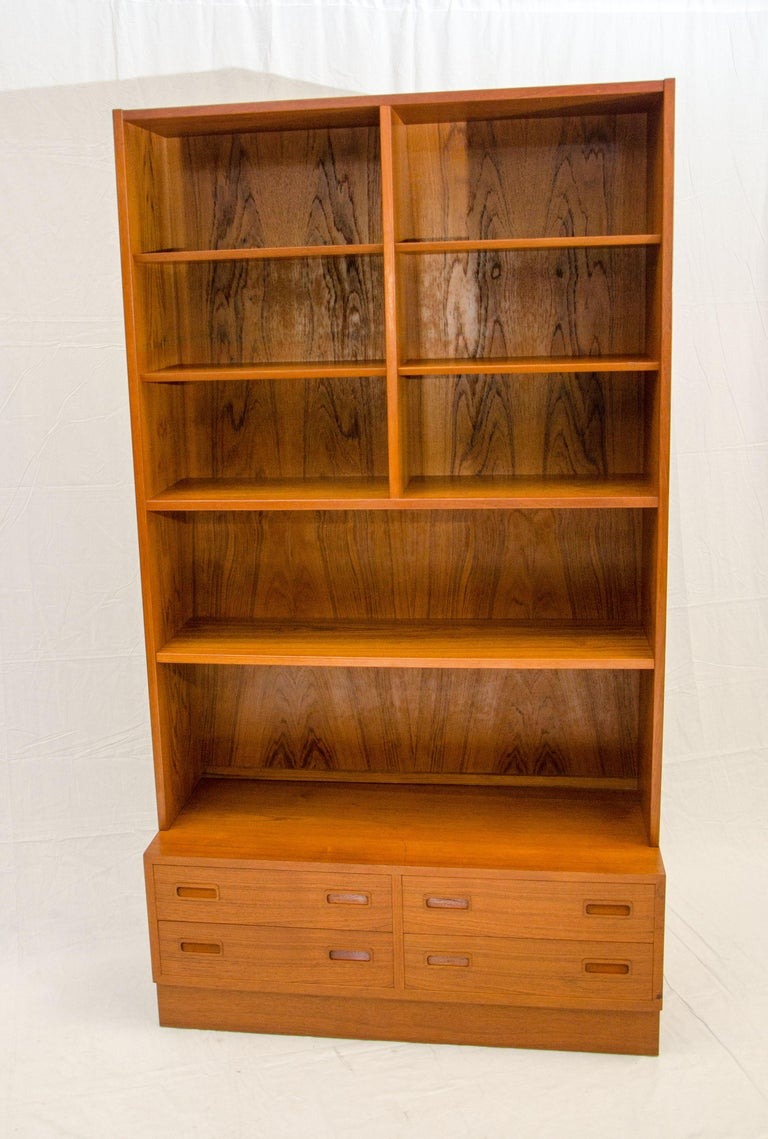 Nice Two Section Shelf Unit With A Storage Drawer Base The Is 42 1