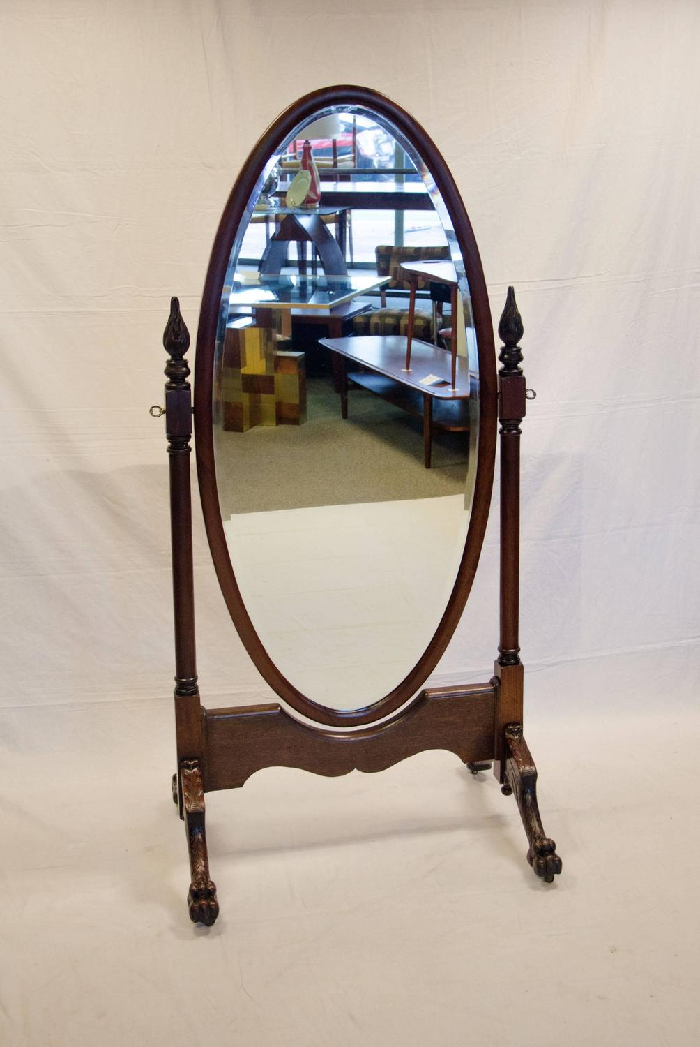 Antique mahogany cheval dressing mirror for sale at 1stdibs for Floor length mirror for sale