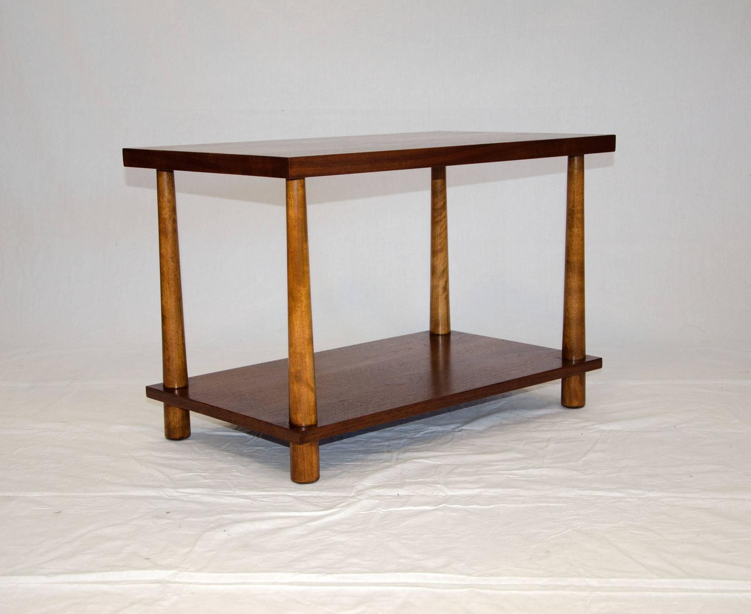 Midcentury Walnut Lamp or End Table, T. H. Robsjohn-Gibbings for ...