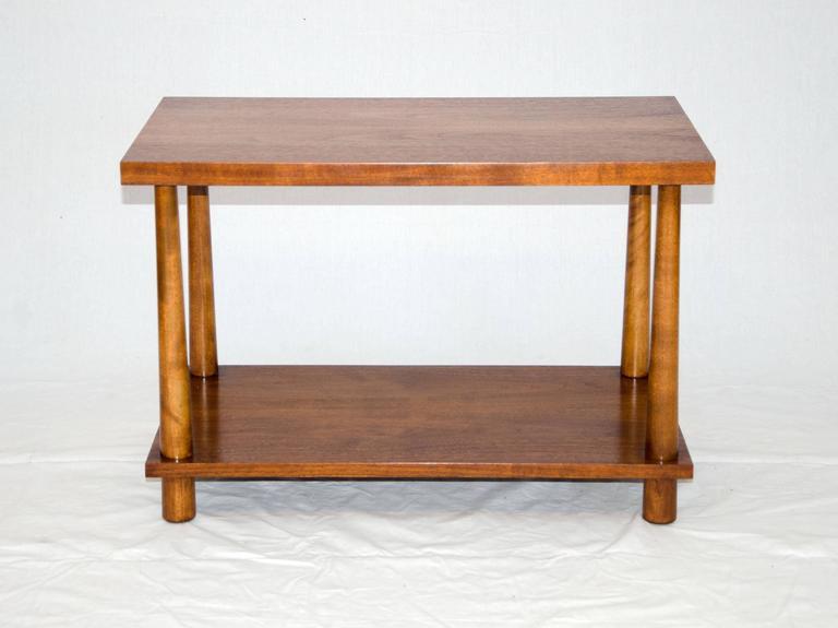 Midcentury Walnut Lamp Or End Table, T. H. Robsjohn Gibbings For Widdicomb 3