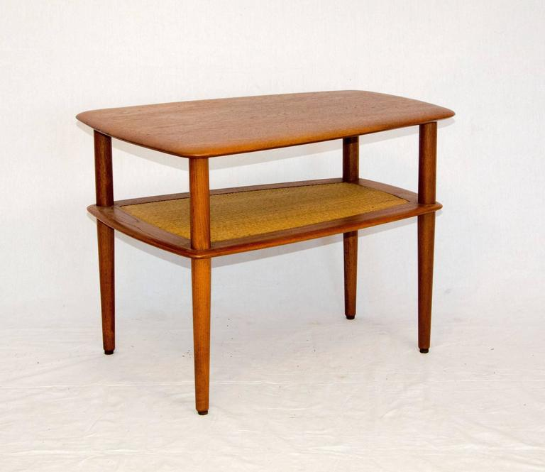 Solid Teak End Table Perfectly Designed Peter Hvidt And Orla Mølgaard Nielsen For John Stuart