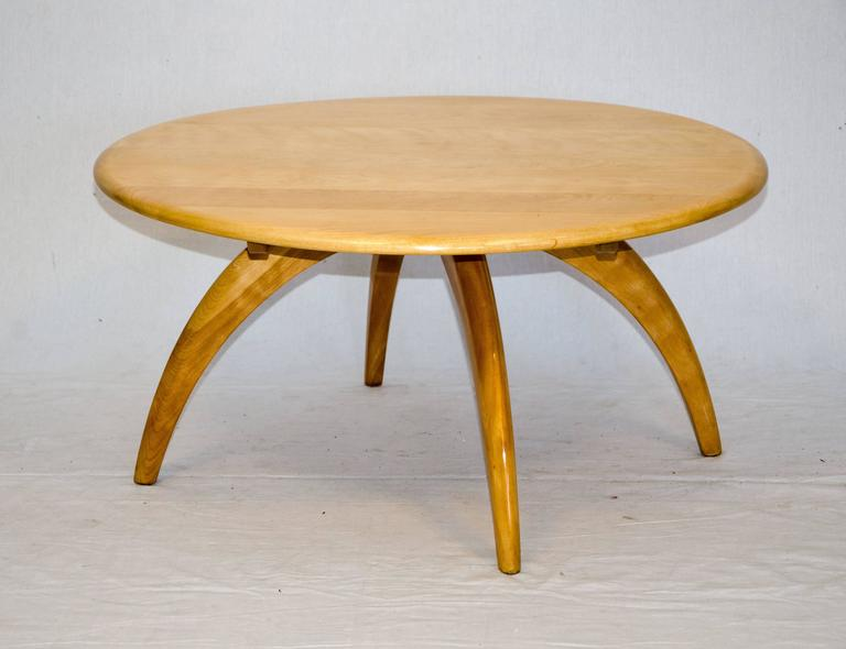 Round Lazy Susan Cocktail Or Coffee Table By Heywood