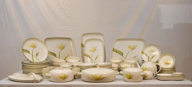 Huge set of California dinnerware by Winfield Pottery Co. Pattern name is