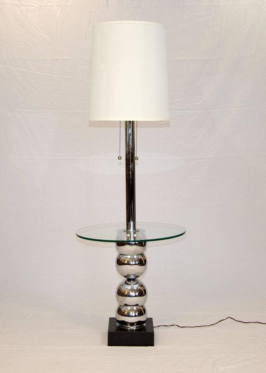 sadie floor lamp with tray table swing arm end uk chrome