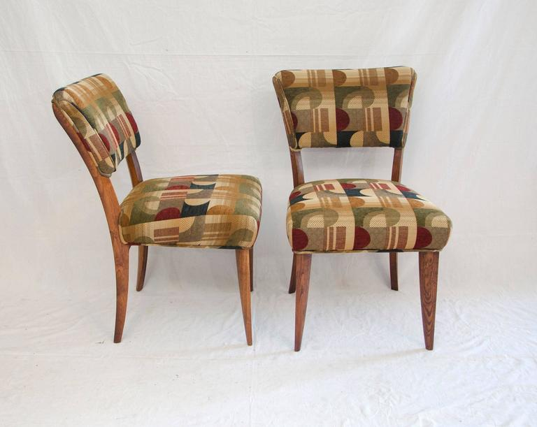 North American Mid-Century Set of Eight Dining Chairs by Paul Laszlo for Brown Saltman For Sale