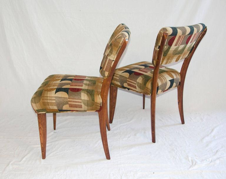 Mid-Century Set of Eight Dining Chairs by Paul Laszlo for Brown Saltman For Sale 1