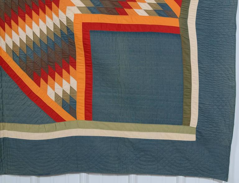 Patchwork Blazing Lone Star Quilt For Sale