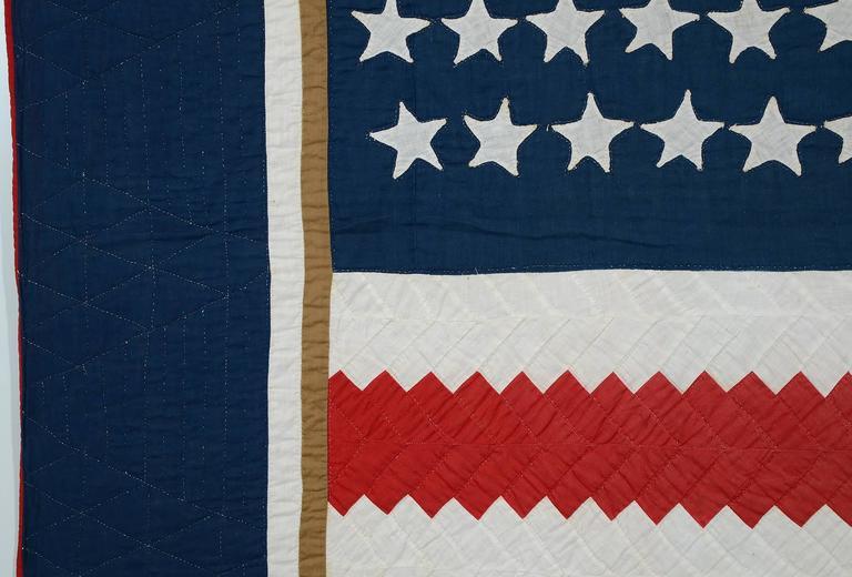 Patchwork Patriotic Quilt Titled