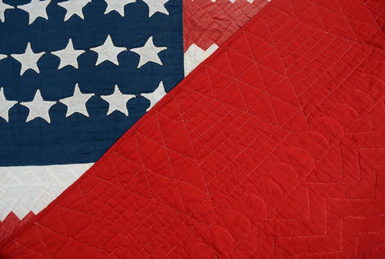 Early 20th Century Patriotic Quilt Titled