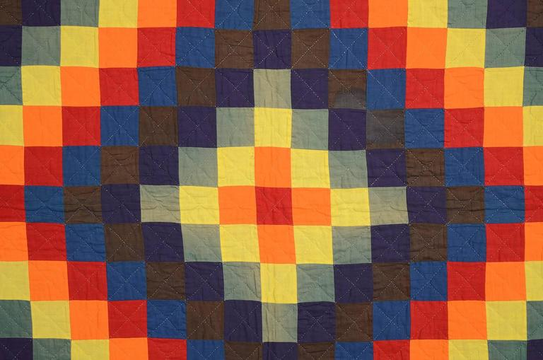 American Mennonite Trip Around the World Quilt For Sale