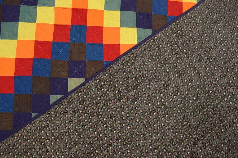 Mennonite Trip Around the World Quilt In Good Condition For Sale In Darnestown, MD
