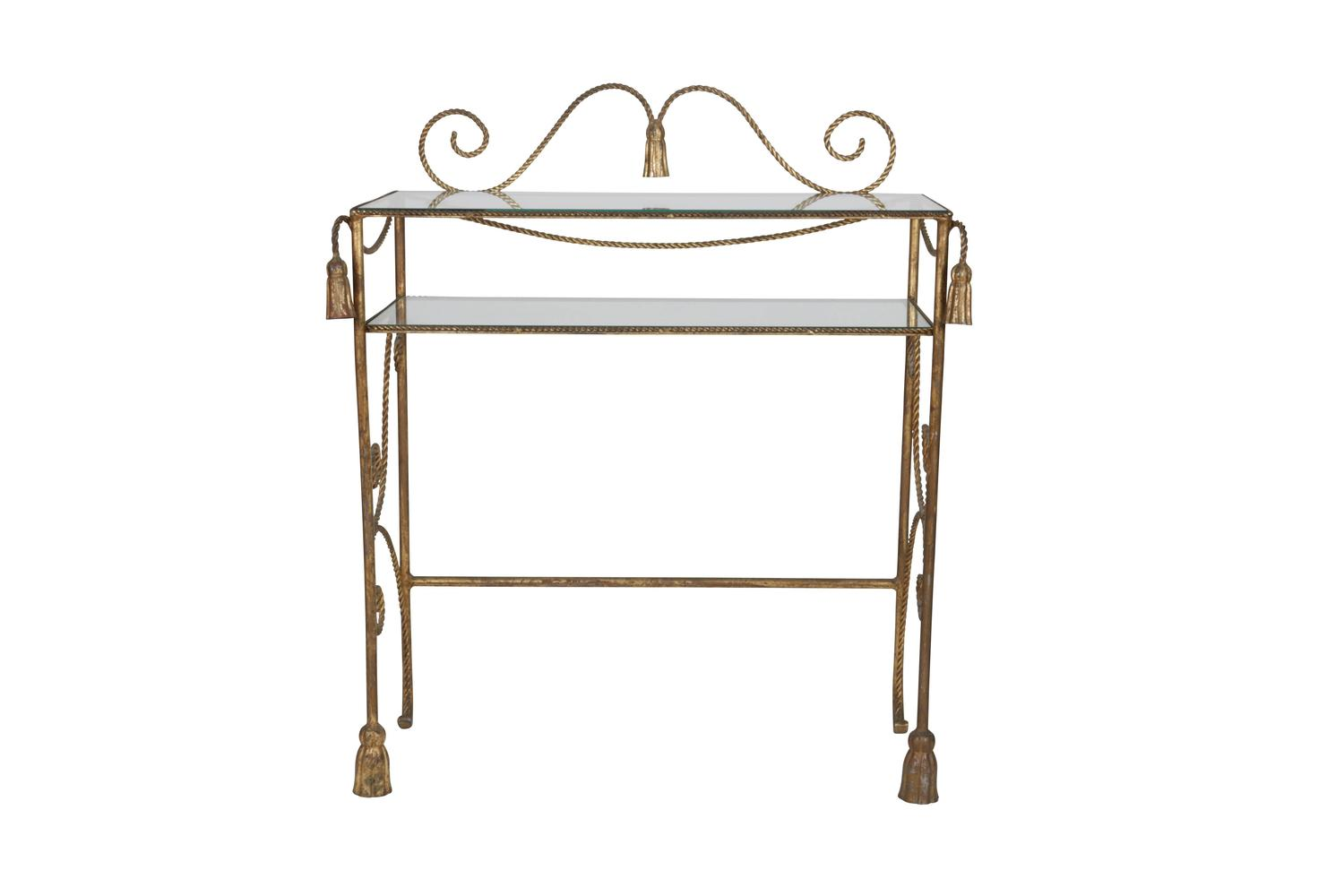 Trompe l 39 oeil dor tassel and rope ladies dressing table for Womens dressing table