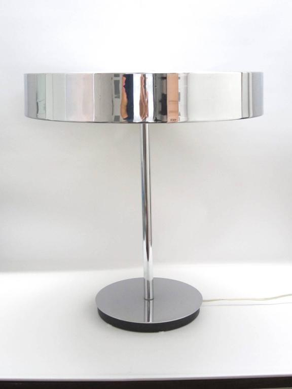 Italian Chrome Desktop Lamp For Sale At 1stdibs