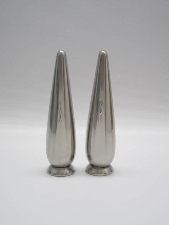 Danish Modern Steel Salt And Pepper Shakers For Sale At