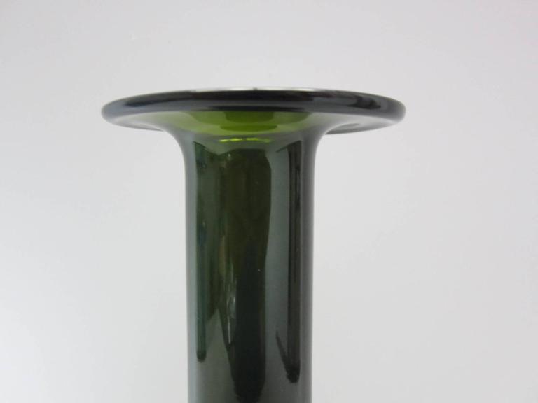 """Mid-Century Modern Otto Brauer for Holmegaard """"Gulvase"""" Bottle Vase For Sale"""