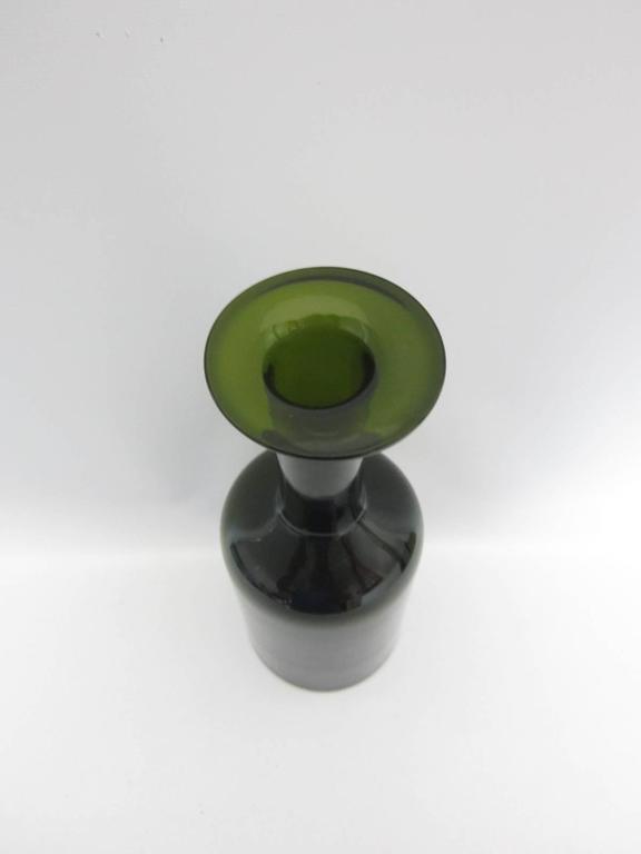 """20th Century Otto Brauer for Holmegaard """"Gulvase"""" Bottle Vase For Sale"""