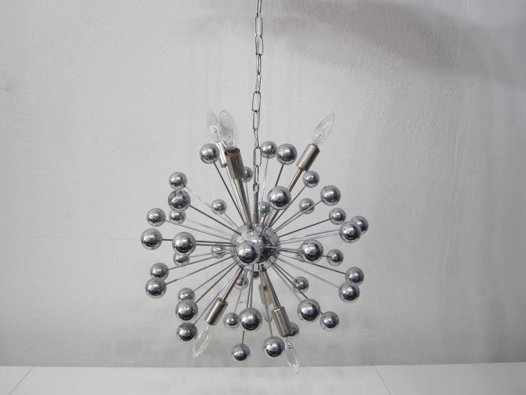 Italian Sputnik Hanging Spherical Pendant Chandelier For