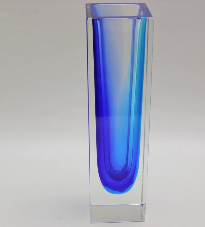 Mandruzzato Double Sommerso Murano Glass Vase At 1stdibs