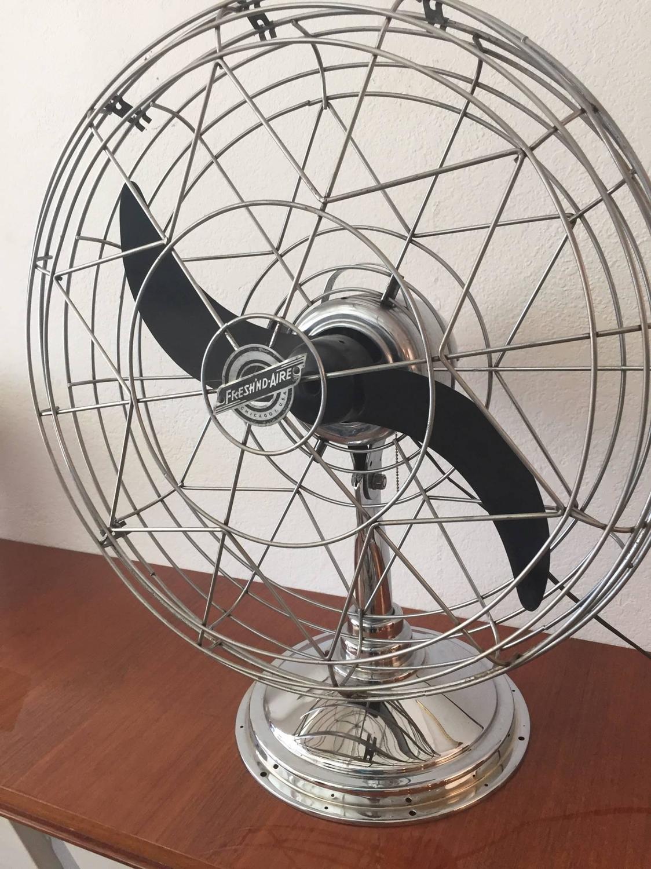 Vintage Ge Fan Model Numbers : Fresh nd aire chrome industrial desk fan model for