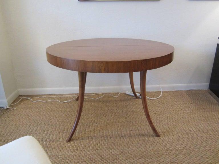 Gorgeous T.H. Robsjohn-Gibbings Walnut Extension Dining Table 3
