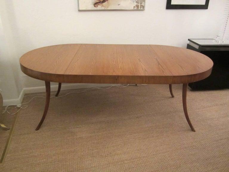 Gorgeous T.H. Robsjohn-Gibbings Walnut Extension Dining Table 7