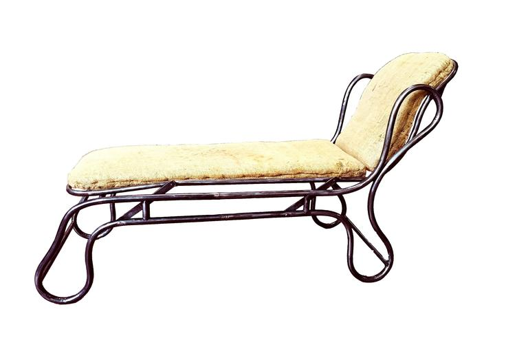 Adjustable chaise longue france circa 1900 for sale at for Chaise longue france