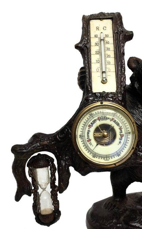 Beautiful Black Forrest Bear Thermometer Barometer And