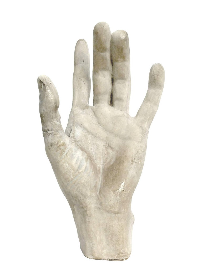 Academic Cast of Plaster Depicting a Hand, Italy, circa 1890 In Good Condition In Milan, IT