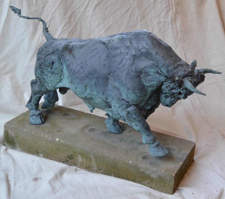 Bronze Garden Sculpture Of A Bull For Sale At 1stdibs
